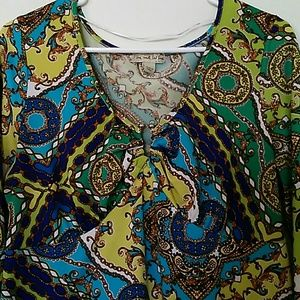 Live and let live boho style Blouse size XL